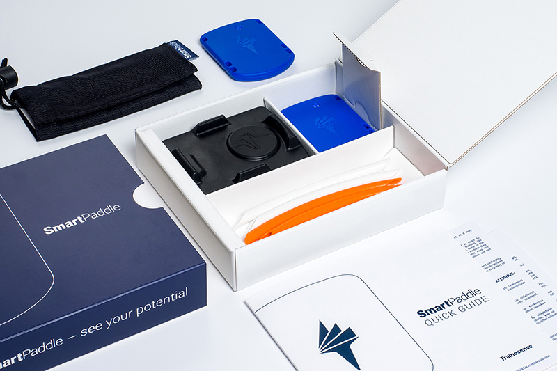 Trainesense Smart Paddle product packaging design